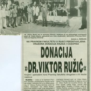 Donacija Dr. Viktor Ružić