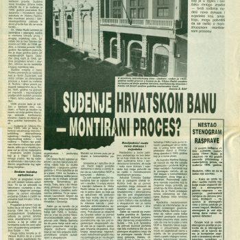 Suđenje hrvatskom banu – montirani proces?